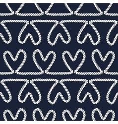 Seamless nautical romantic rope pattern vector