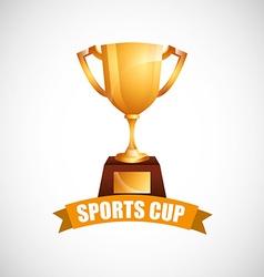 Sport cup design vector