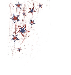 stars on white patriotic vector image
