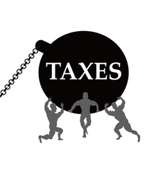 Taxes burden vector
