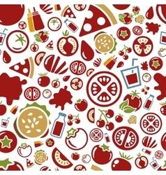 Tomato seamless pattern vector