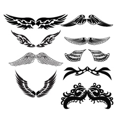 Tribal wings for tattoo vector