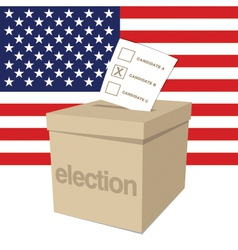 Us election ballot box vector