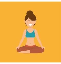 Woman yoga healthy life vector
