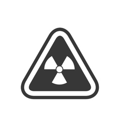 Biohazard sign triangle warning icon vector