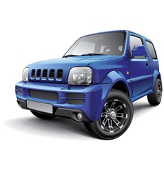 Japanese off road mini SUV vector image