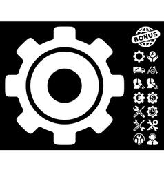 Cog icon with tools bonus vector