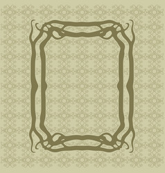art nouveau smooth lines decorative rectangle vector image