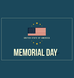 Collection stock of memorial day theme banner vector