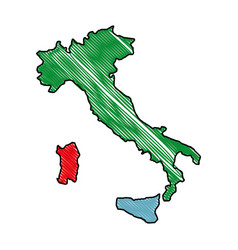Italy map icon vector