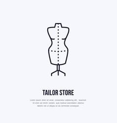 tailor dummy mannequin dress vector image