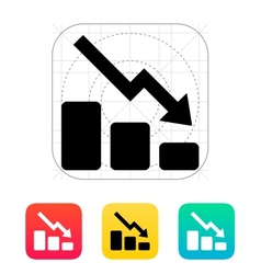 Graph down icon vector