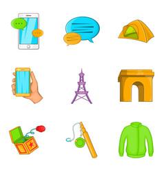 Snapshot icons set cartoon style vector