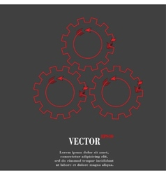 Settings sign web icon flat design vector