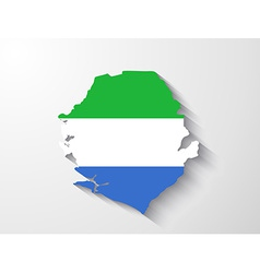 Sierra leone map with shadow effect vector