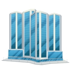 Urban glass tall buildings vector