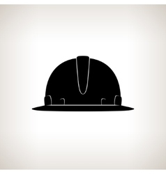 Silhouette hard hat vector