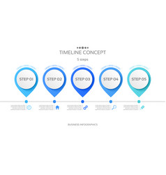5 steps timeline infographic template vector image vector image