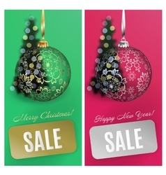Christmas card set sale background with vector