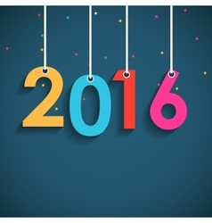 Abstract Beauty 2016 New Year Background vector image