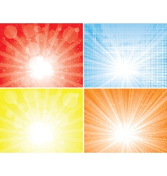 Sunbeam backgrounds vector