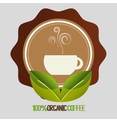 Delicious natural and organic coffee vector