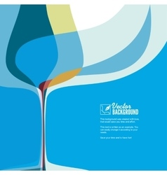 Cover for menu with wine glass vector