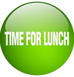 Time for lunch green round gel isolated push vector