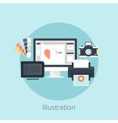 Abstract flat image of drawing vector image