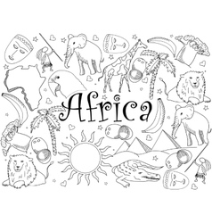 Africa coloring book vector image vector image