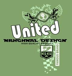 Art design with models united team vector