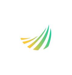 business swirl arrow logo vector image