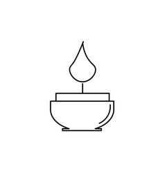candle icon vector image vector image