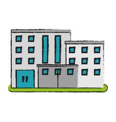 City building icon image vector