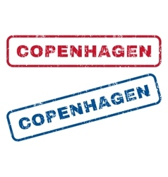 Copenhagen rubber stamps vector