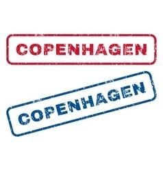 Copenhagen rubber stamps vector