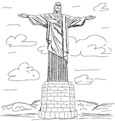 cristo redentor vector image