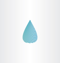 Drop of water blue sign icon vector