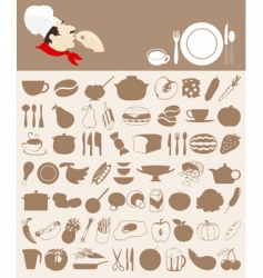 food icon5 vector image