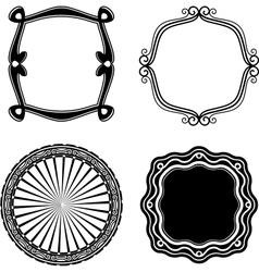 Frame Set ornamental vector image vector image