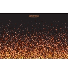Golden Shimmer Glowing Square Particles vector image vector image
