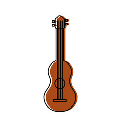 guitar instrument music acoustic harmony vector image vector image