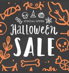 halloween sale template vector image