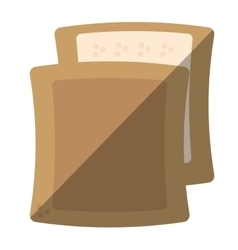 halved bread bakery breakfast design shadow vector image vector image