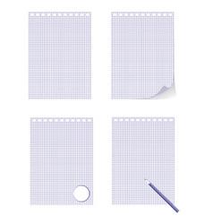 High detailed plastic spiral bound album page vector