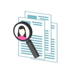 Hr management recruitment candidate symbol flat vector