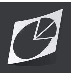 Monochrome diagram sticker vector image vector image