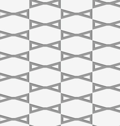 Perforated bows in grid vector image