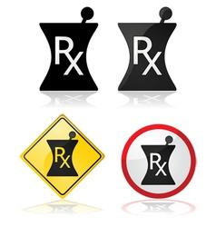 Prescription signs vector