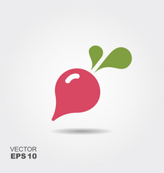 radish flat icon colorful logo vector image